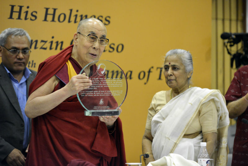 India-Prof-ML-Sondhi-Prize-International-Politics-Dalai-Lama-Tibet-2017
