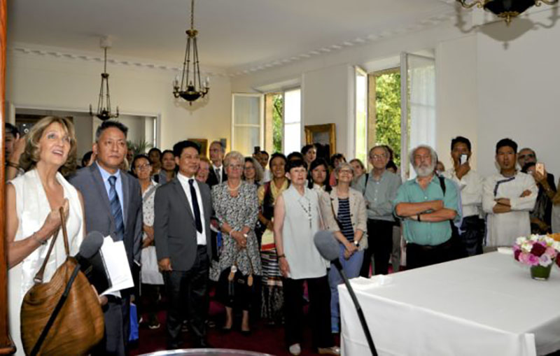 A section of guests at the reception in National Assembly. Photo/Bureau du Tibet, Paris
