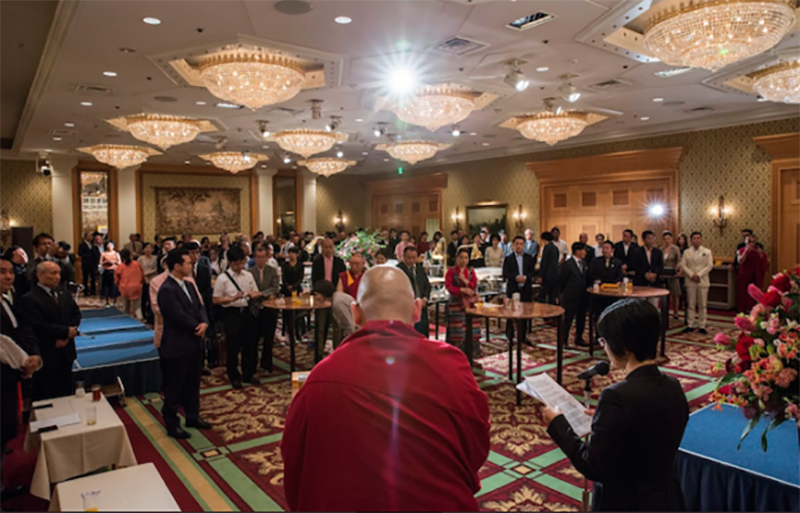 Gathering at the 83rd birthday celebration of His Holiness the Dalai Lama organized by the Liaison Office of His Holiness in Tokyo. OOT Tokyo