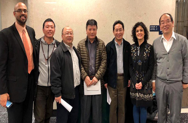 Representatives of the Wisconsin Tibetan Association and supporters at the Common Council meeting in Madison city, Wisconsin on February 27, 2018. Photo: file