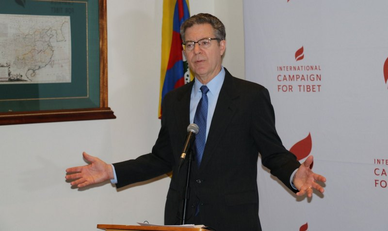 US Ambassador at large for International Religious Freedom Sam Brownback speaking during an event held at the International Campaign for Tibet in Washington DC, US, December 10, 2019. Photo: ICT