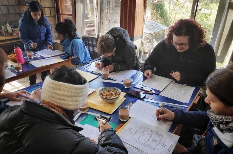 A group of students from the University of Denver in Colorado, U.S.A., was recently on a two week trip to Dharamshala, India. Photo: TPI/Zach Chrisman