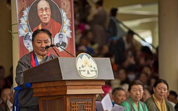 Speaker Pema Jungney delivering the statement of Tibetan Parliament-in-Exile on the 84th Birthday Celebration of His Holiness the Dalai Lama. Photo/Tenzin Jigme/CTA