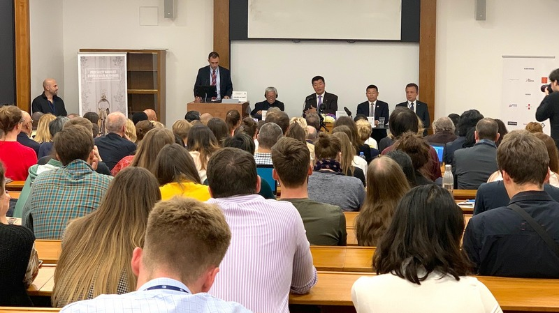 President Dr Lobsang Sangay joins a panel discussion on 'China: Human Rights in the 21st Century Digital Surveillance' at Charles University, Prague, 15 October 15, 2019. Photo: Sikyong Office