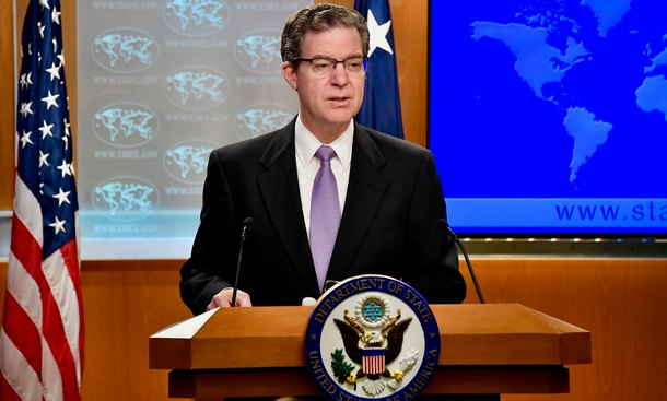 Ambassador at Large for International Religious Freedom Sam Brownback on the 2018 Report on International Religious Freedom, in Washington, DC, on June 21, 2019. Photo: U.S. Department of State