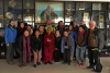 A delegation from University of Denver with Acharya Yeshi Phuntsok Deputy Speaker of the Tibetan Parliament in-Exile in Dharamshala, India, December 12, 2017. Photo: TPI/Ford Sanger