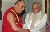 The former Prime Minister Shri Atal Bihari Vajpayee receiving His Holiness the Dalai Lama who called on him in New Delhi on July 3, 2001. Photo: File