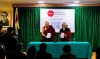Geshe Lhakdor, Director of Library Of Tibetan Worksand Archives (L) and Mr Tashi Tsering, Director of Amnye Machen Institute (R) releasing the report on November 15, 2018, in Dharamshala, India. Photo: TPI