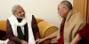Prime Minister Narendra Modi (then Chief Minister) with His Holiness the Dalai Lama in 2013. Photo: File