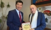 President Dr Lobsang Sangay meets former President of South Africa Mr F W de Klerk. Photo/OOT SA