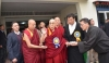 His Holiness the Dalai Lama consecrating the newly built and renovated buildings of the CTA, Dharamshala, India, November 28, 2019. Photo: CTA/DIIR/Tenzin Jigme
