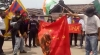Protesters burn China's red flags and calls for boycott China after Indo -Tibet border clash