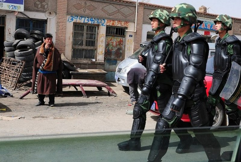 Chinese soldiers patrolling in eastern Tibet. Photo: File