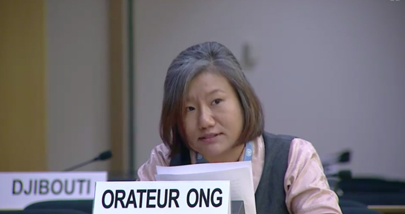 Thinlay Chukki, Special Appointee for Human Rights at the Tibet Bureau Geneva.