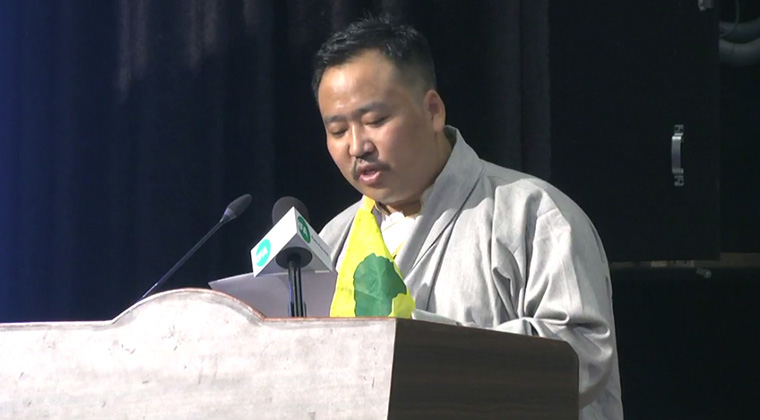 Gonpo Dhondup, the president of Tibetan Youth Congress.  Photo: TPI