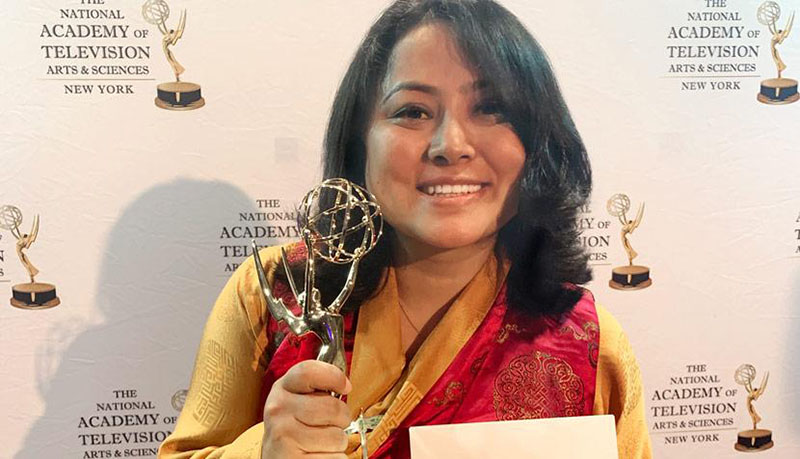 "Kunchok Dolma '21 and her team won a New York Emmy for ""Rolando's Rights."" Photo: The University of Virginia"
