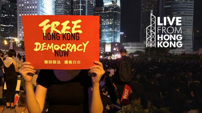 Protesters call for freedom and democracy in Hong Kong. Photo: File