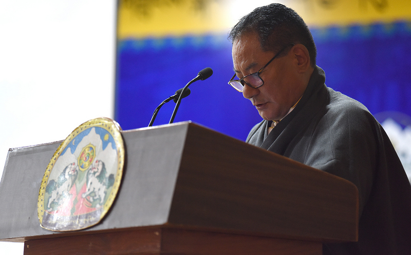 Speaker of the Tibetan Parliament-in-Exile, Pema Jungney delivering his statement, in Dharamshala, India, issued on July 6, 2020. Photo: TPiE